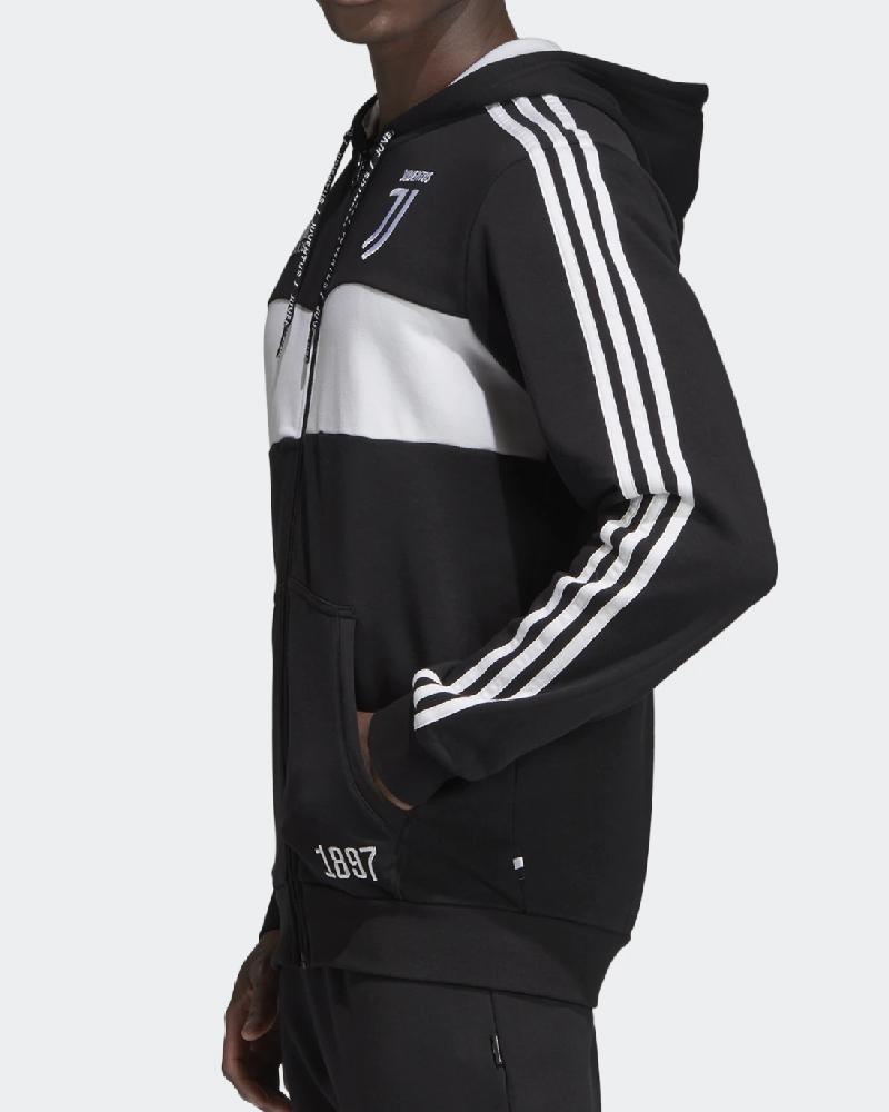 Juventus Fc Adidas Giacca Tuta Felpa sportiva 2019 20 Uomo Nero Cotone garzato | eBay
