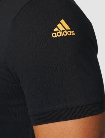 adidas black polo