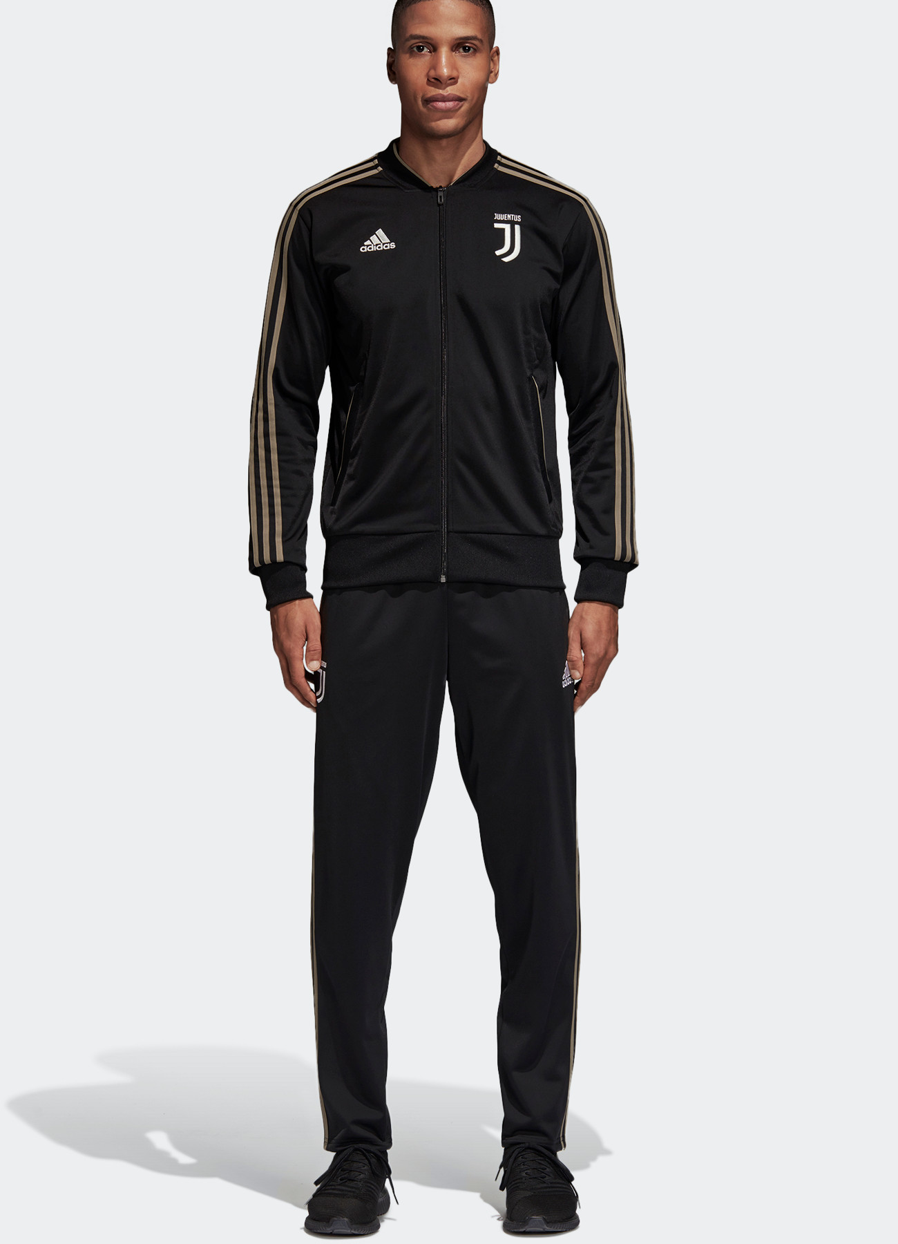 b0f9dbfee FC Juventus Adidas Training Tracksuit 2018 19 Black Pes Bench ...