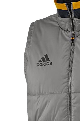 29659898461d ... Bomber Piumino Giubbotto gilet smanicato Juventus Originale adidas Uomo 2016  17 grigio - Down jacket vest ...
