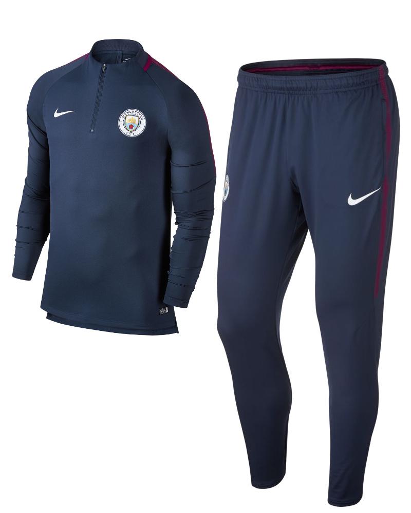 Manchester-City-Nike-Tuta-Allenamento-Training-Tracksuit-Blu-mezza-zip-Drill