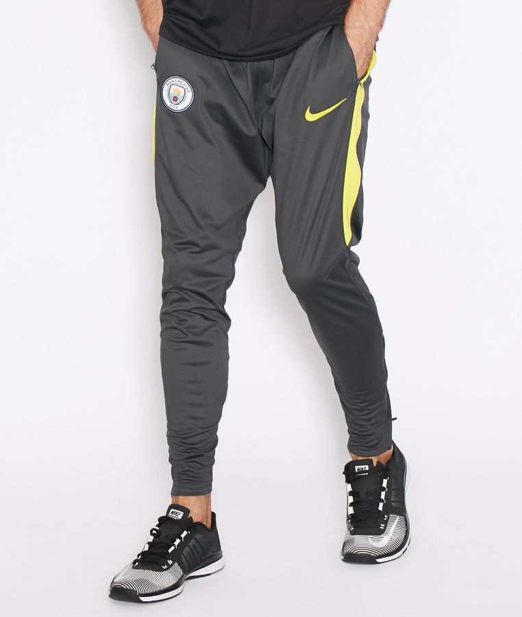 Squad-Manchester-City-Nike-Pantaloni-tuta-Pants-Grigio-2016-17-TASCHE-a-ZIP