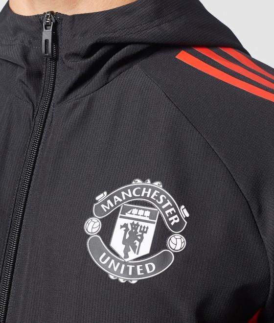 Manchester-United-Adidas-veste-representation-Pres-veste-Uefa-2017-18-Rouge