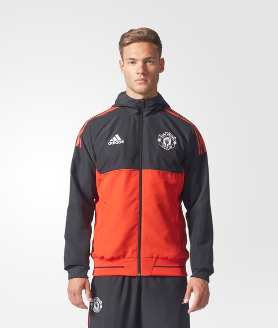 Manchester United Adidas veste représentation Pres veste Uefa 2017 18 Rouge