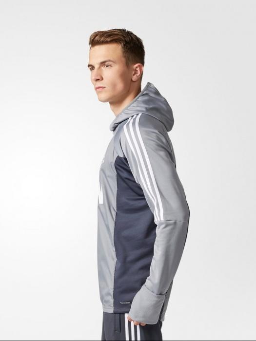 Manchester United Adidas WARM TOP Felpa Allenamento Sweatshirt Grigio 2017 18 | eBay