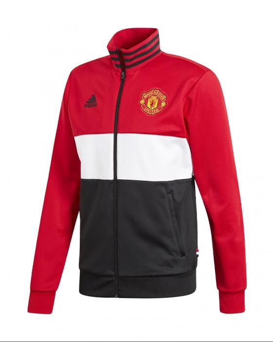 Sur Rouge 2019 Track Sport 3 Adidas 20 Manchester Détails Top Veste Jacket Stripes United Nvm0wny8O