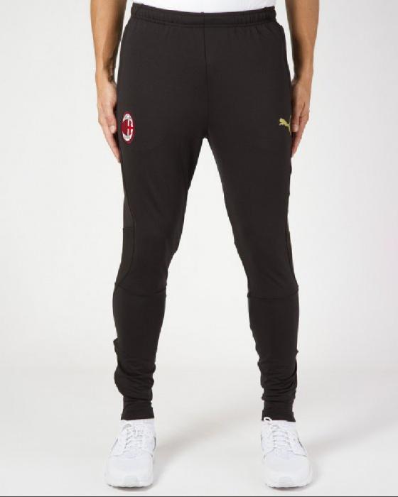 7f129fa32f Dettagli su Ac Milan Puma Pantaloni tuta Pants Versione panchina 2018 19  Nero