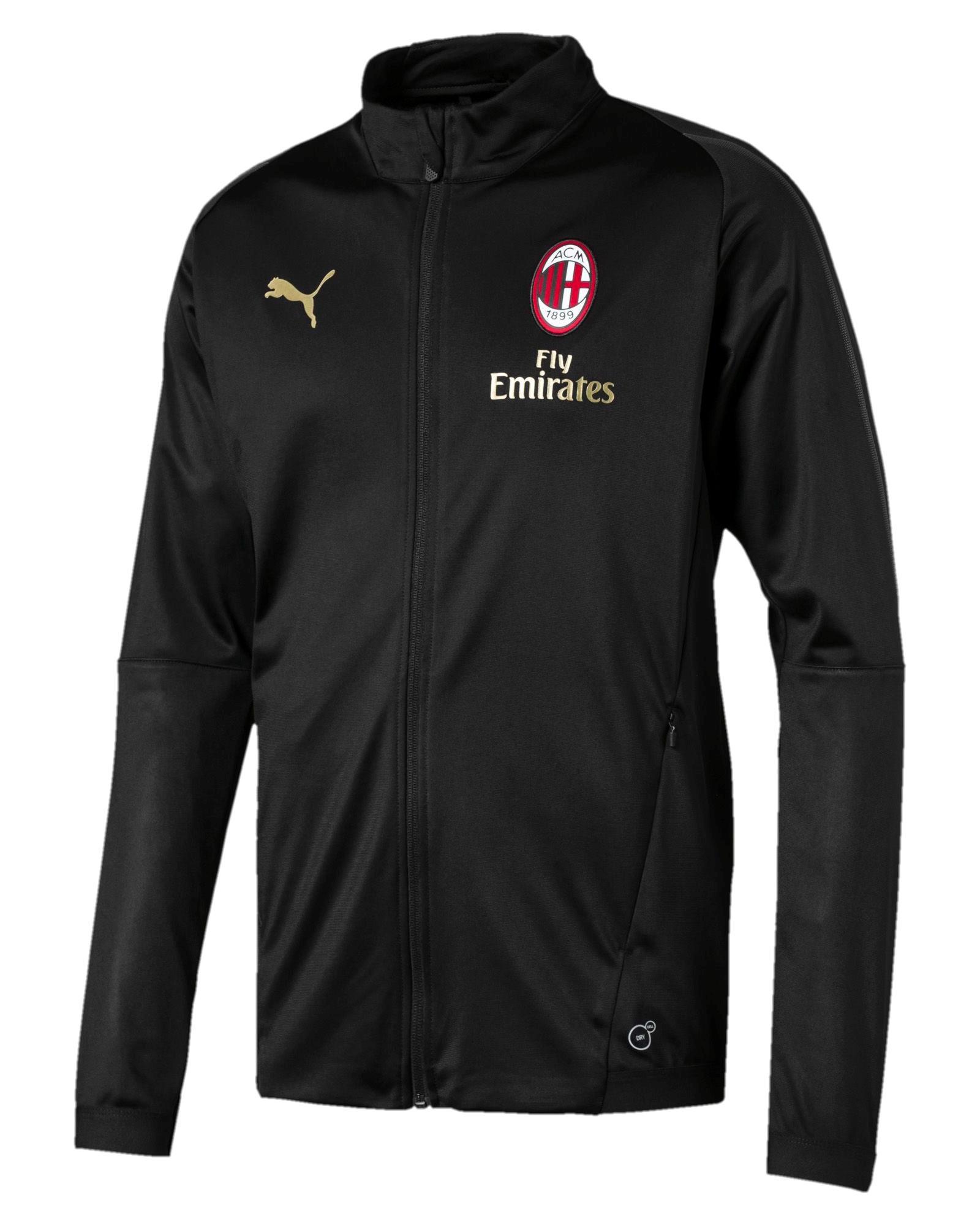 33bfaa716 Ac Milan Puma Tuta Allenamento Tracksuit 2018 19 Nero Versione Panchina 4 4  di 8 ...