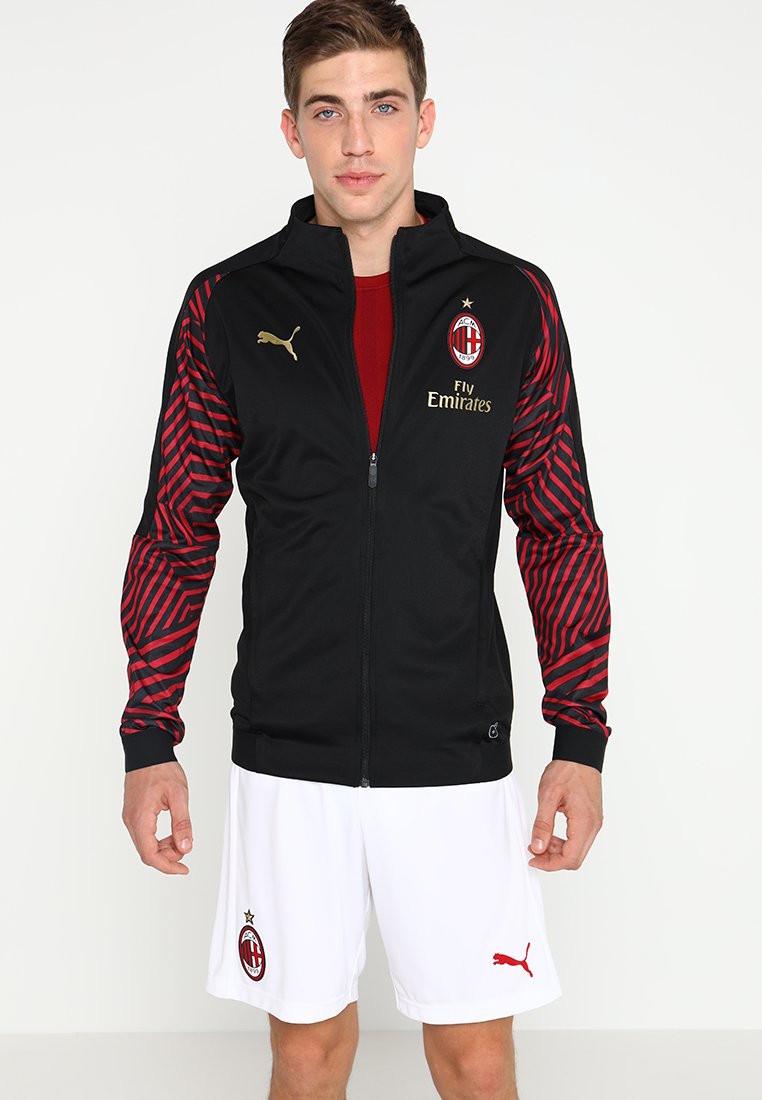AC MILAN PUMA Giacca Pre Gara Pre Match Jacket Nero Stadium 2018 19