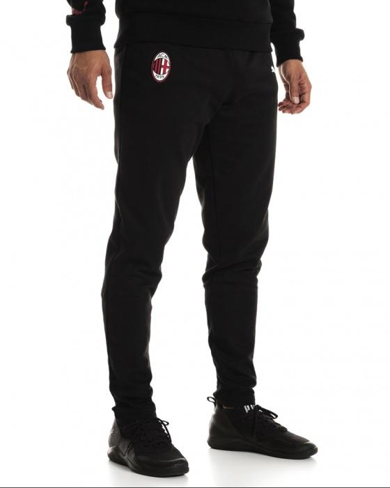 Dettagli su Ac Milan Puma Pantaloni tuta Pants 2018 19 Casual Sweat Nero Cotone