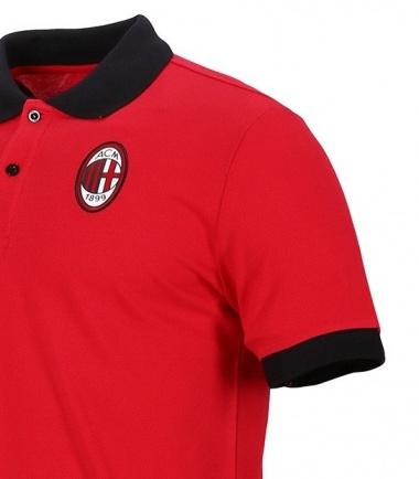 aed1e91314 ... Polo Maglia Ac Milan Puma Badge Rosso maniche corte cotone 2018 19 uomo  - Polo Shirt