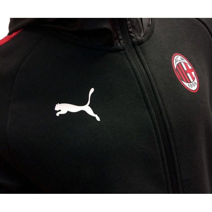 Ac Milan Puma Puma Puma Anzug Freizeit Abzugshaube 2018 19 Junge Noir Baumwolle d53fd7