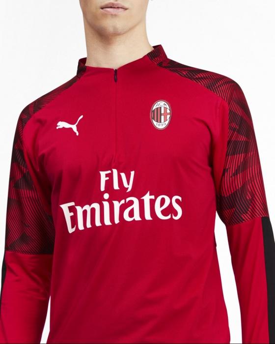 Dettagli su Ac Milan Puma Felpa Allenamento Training Sweatshirt Rosso 2019 20