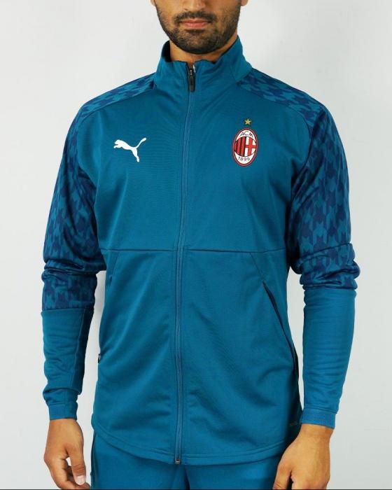 Ac milan puma jacket pre game jacket mens blue polyester 2020 21 ...