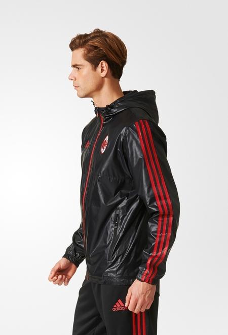Ac-Milan-Adidas-Training-Jacket-anorak-windbreaker-anorak-2017-18-Homme-Noir