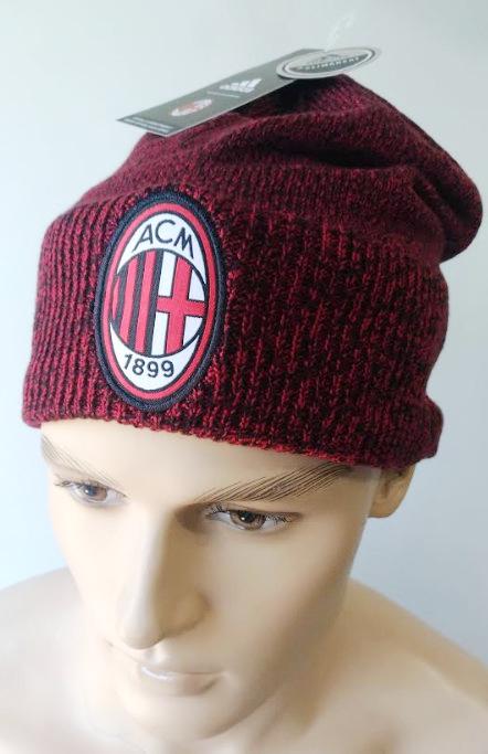 Ac-Milan-Adidas-Cappello-BEANIE-Hat-Rosso-2017-18-cappello-di-lana-invernale