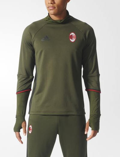 Ac-Milan-Adidas-Training-Sweatshirt-Felpa-Top-Vert-2016-17