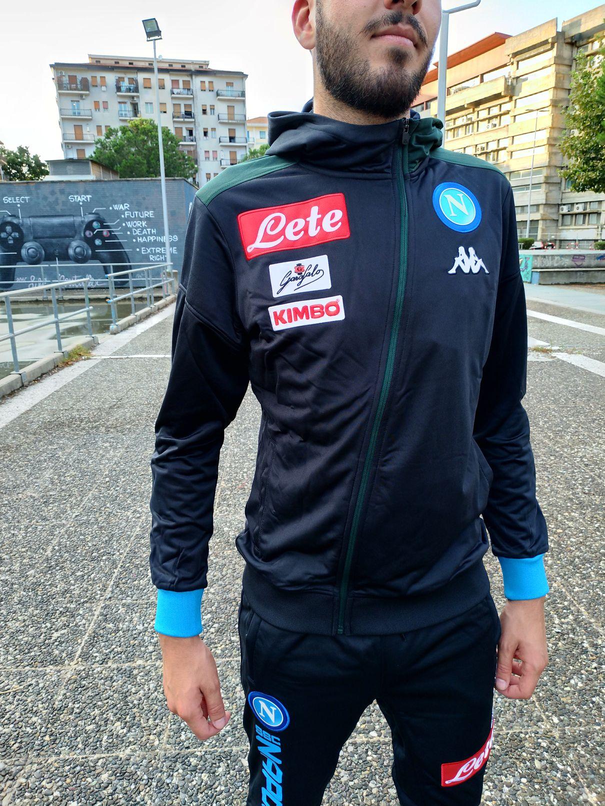 12eeca893 Napoli Naples Kappa Tuta Rappresentanza Pres Tracksuit Cappuccio ASTEOD Blu  5 5 di 11 ...