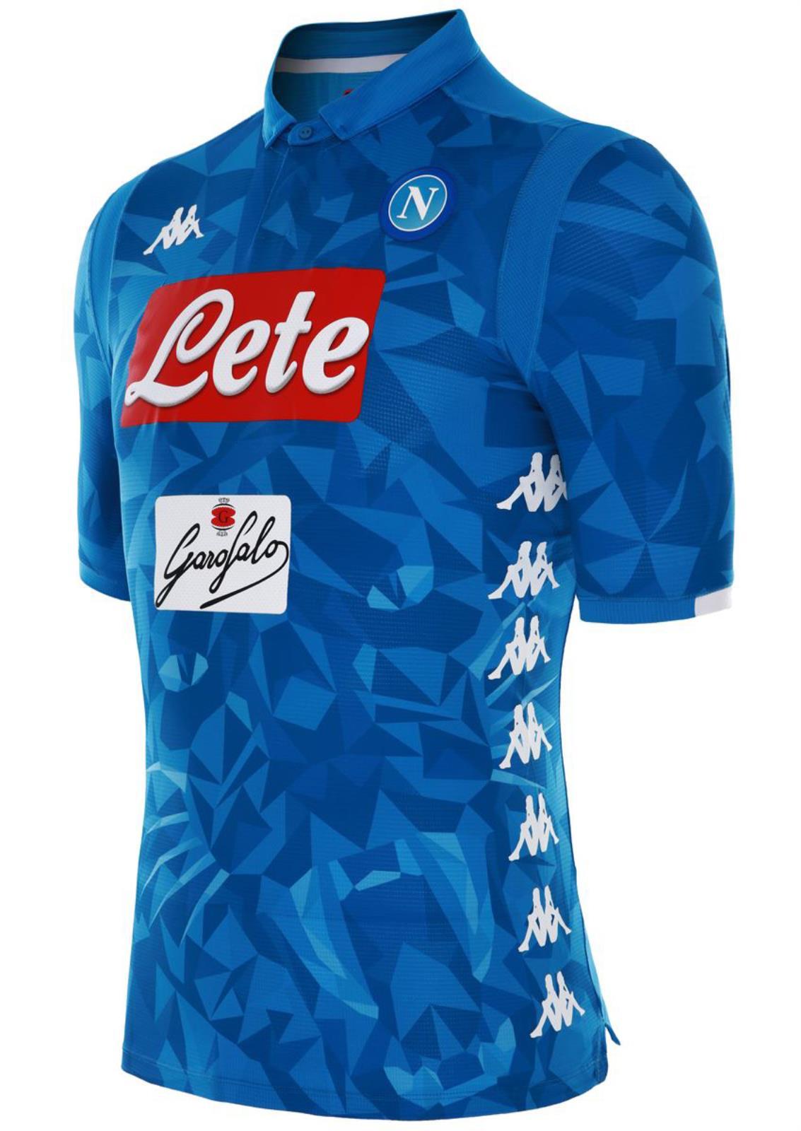 b38ad76b60e SSC Napoli Naples Kappa Kombat Jersey Shirt Top Match issue Blue ...