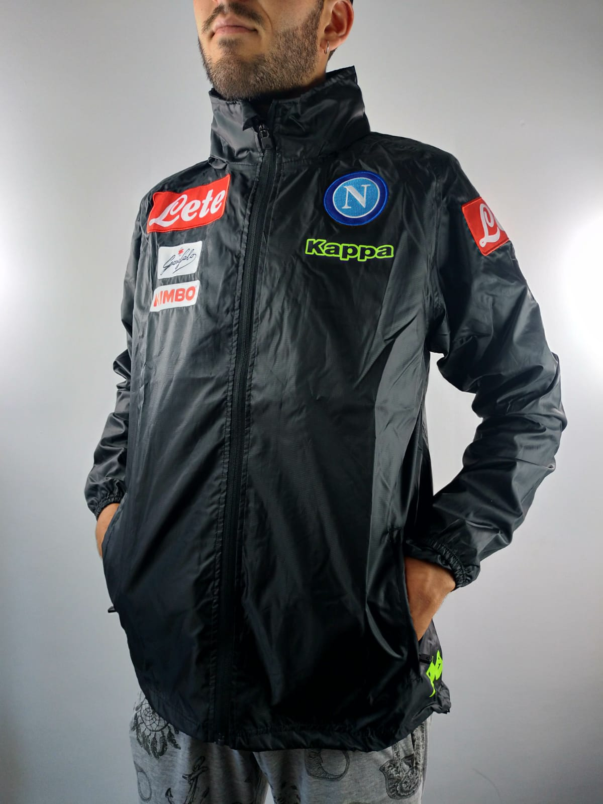 3f779a703 SSC Napoli Naples Kappa Wind Rain Jacket 2018 19 Grey k-way ...