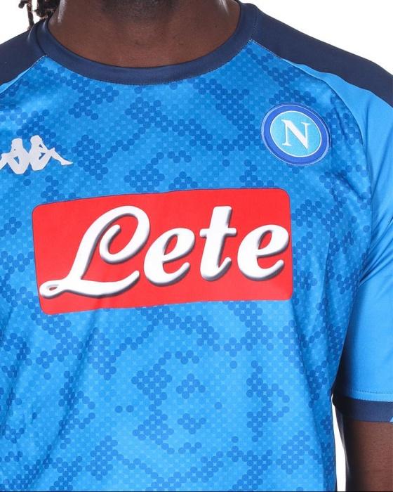 Dettagli su SSC Napoli Naples kappa Kombat Euro Maglia Calcio football shirt Uomo Azzurro