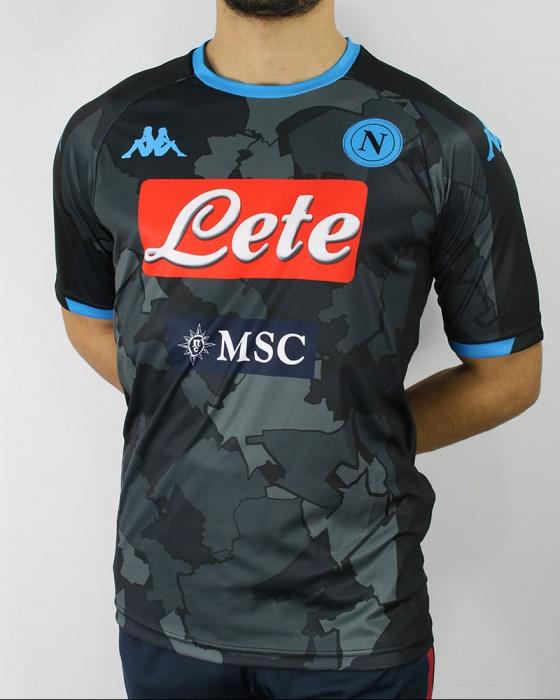 Dettagli su SSC Napoli Kappa Maglia Calcio Football Shirt UOMO Carbon 2020 Kombat Extra