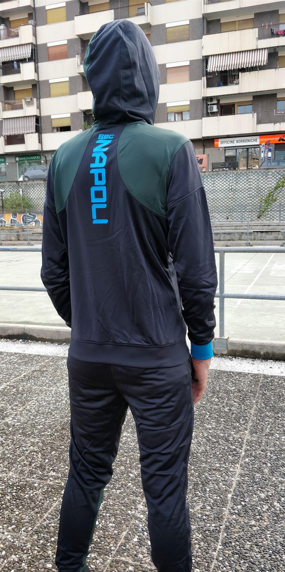 SSC Napoli Kappa Training Suit Training Tracksuit Blau 2018 19 5 5 of 7 ... 0d4266fa738ff