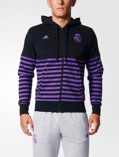 ... Giacca Felpa sportiva cappuccio Real Madrid Nero Originale adidas  Special Season HD Uomo 2017 - Sports ...