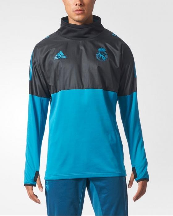 93be65a89 Felpa Allenamento Real Madrid Uefa Champions League adidas Originale Hybrid  Top Uomo 2017 18 - Training ...