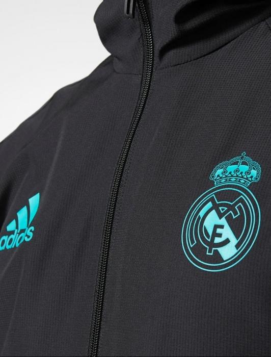 ... Adidas originales chaqueta Real Madrid representante hombre negro-2017  18 presentación chaqueta Real Madrid adidas ... 2db70d23cc33e