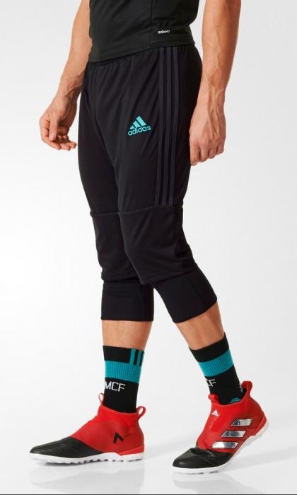 ... Pantaloncini 3/4 Tre quarti Real Madrid adidas originale Training uomo  2017 18 nero Adizero ...