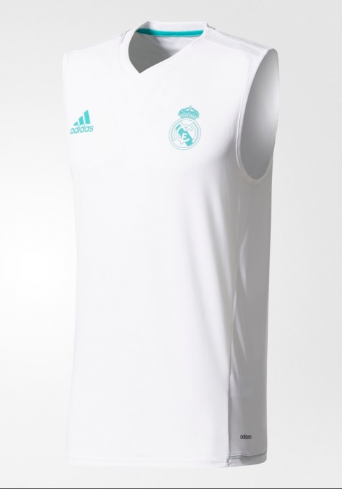 cdc291e97 ... Maglia Allenamento smanicato Real Madrid Originale adidas Uomo 2017 18  Bianco - Training Shirt sleeveless Real ...