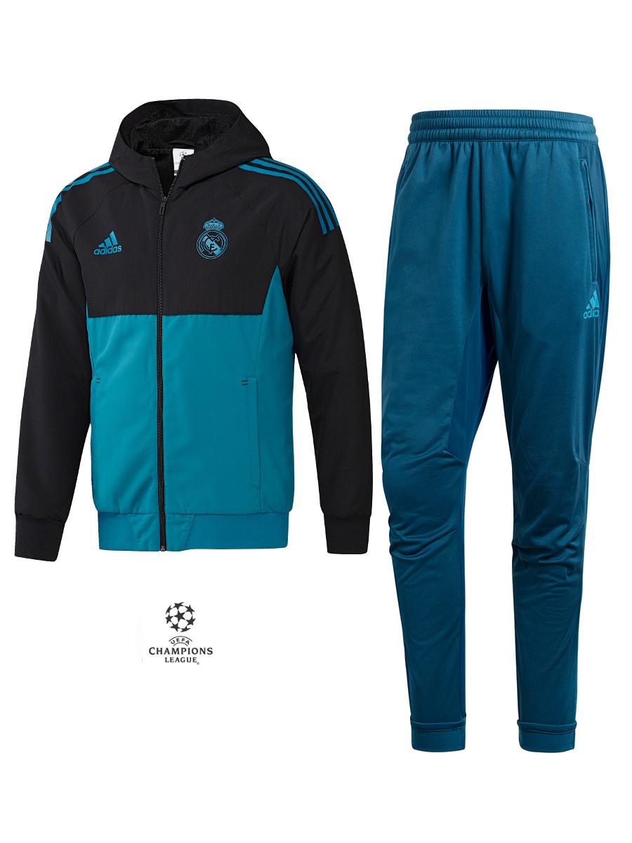 Real Madrid Adidas Presentation Tracksuit Presentation Uefa 2017 18 ... 6771f50502939