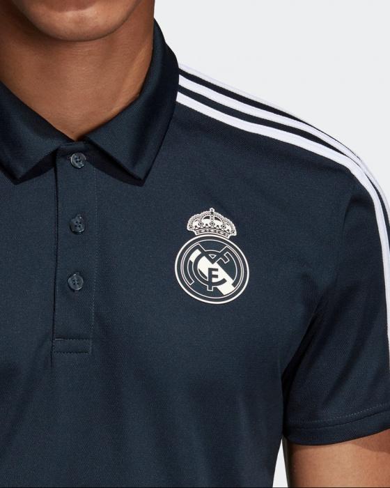 4a8c5c8fb7a02 Adidas Climalite Polo azul Original 2018 19 Real Madrid-Real Madrid de  Adidas hombre adidas ...