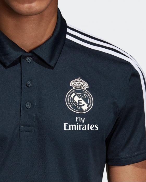 Real Madrid polo blau Adidas 201819