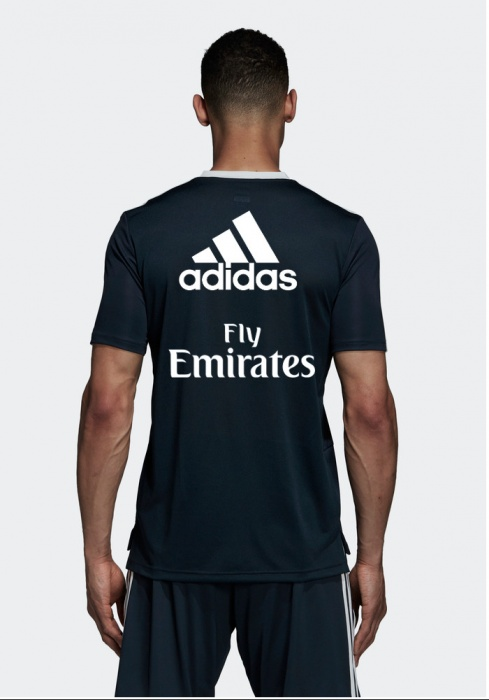 94c192acf40cdd ... Maglia Allenamento Real Madrid adidas Blu Originale Uomo 2018 19  CLIMACOOL Sponsor Fly Emirates - training ...