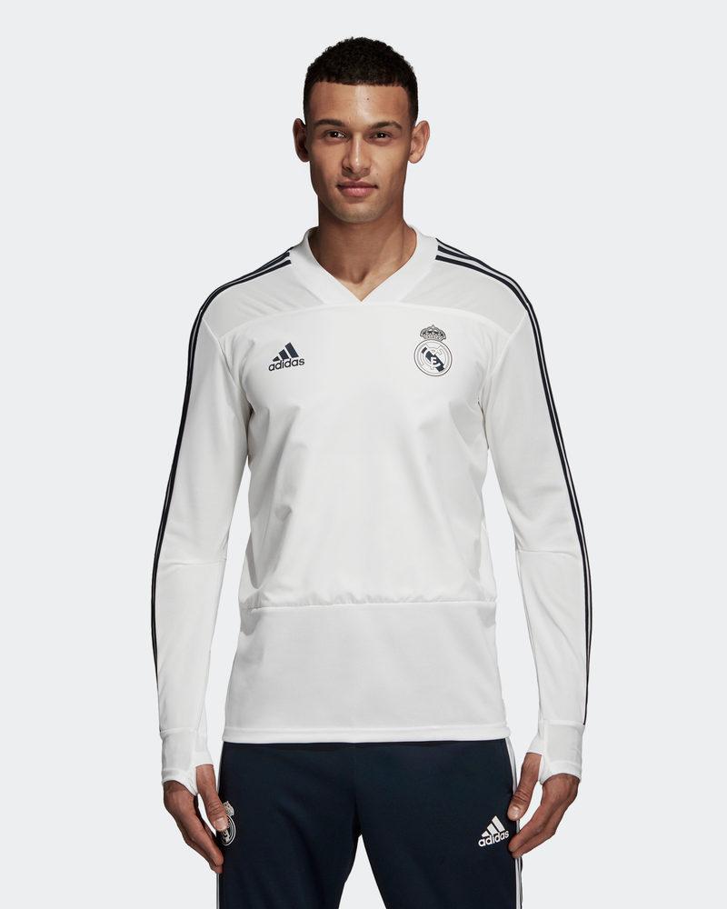 Real Madrid Adidas Training Sweatshirt Top 2018 19  blanco  barato en alta calidad
