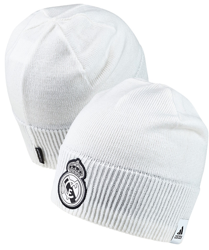 f6b87b15005 Real Madrid Adidas winter woolen hat BEANIE tg 2018 19 Unisex White ...
