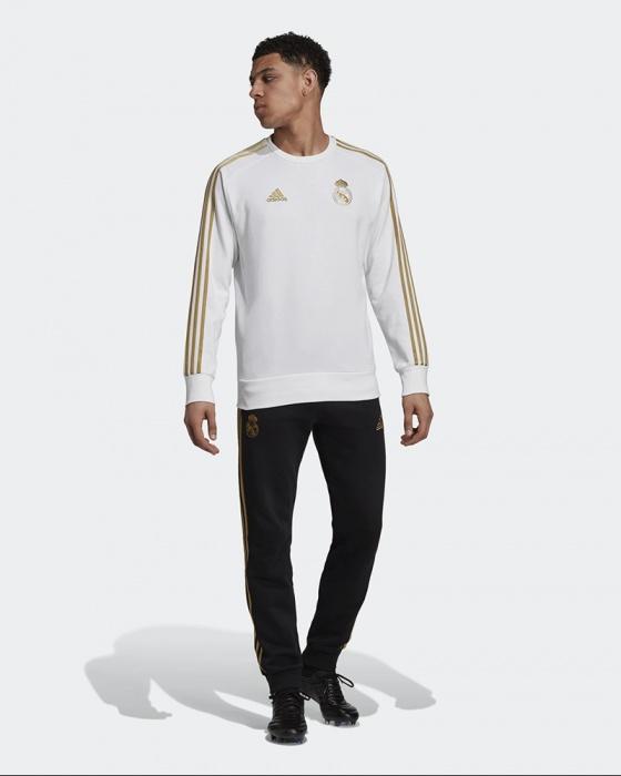 Dettagli su Real Madrid Adidas Tuta Tempo Libero 2019 Uomo Bianco