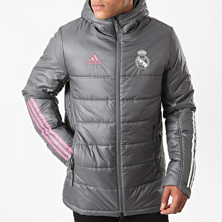demanda es suficiente amplificación  Real Madrid Adidas Down Padded Jacket MEN Grey 2020 21 Winter | eBay