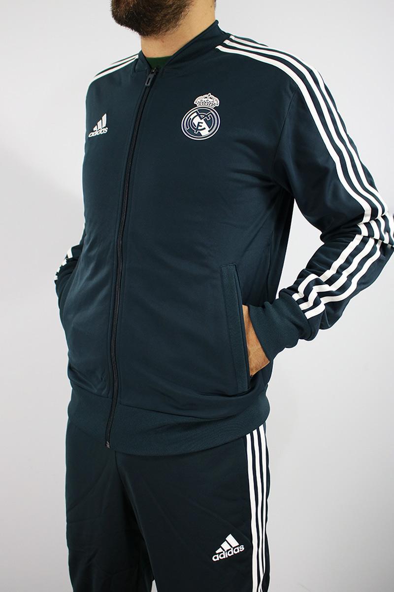 104f533c7028c Real Madrid Adidas Survetement Training 2018 19 Pes Bench Version Blue 9 9  sur 12 ...