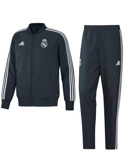 1ec5f8ebc1e2f ... Tejido Chandal Adidas original 2018 19-hombre presentación Real Madrid  azul tejido chándal Real Madrid ...