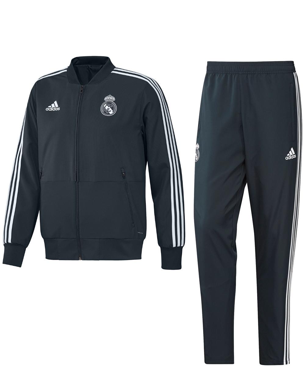 873bdd0421c3a Real Madrid Adidas Presentation Tracksuit 2018 19 Woven Navy