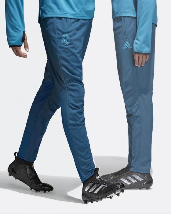 Real Madrid Adidas Uefa Track Pants Hose Blue Training