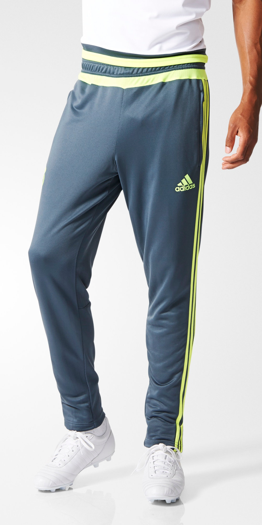 7bd40a48b2 Real Madrid Adidas Track Pantalon Pants Hose Training Gris 2015 16 ...