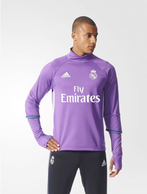 1cf7f7ebd Fly Emirates Real Madrid Adidas Training Sweatshirt Felpa Purple Men ...