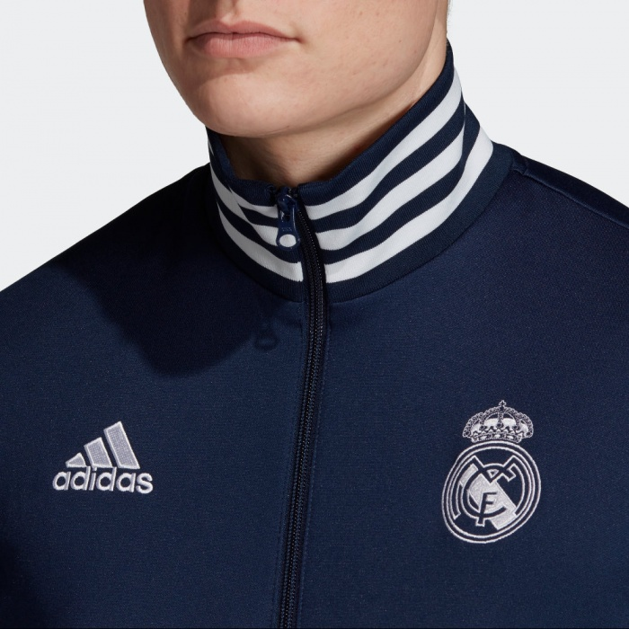 Real Madrid Adidas Giacca Tuta Sportiva Jacket Track Top 3 Stripes Uomo 2019 20