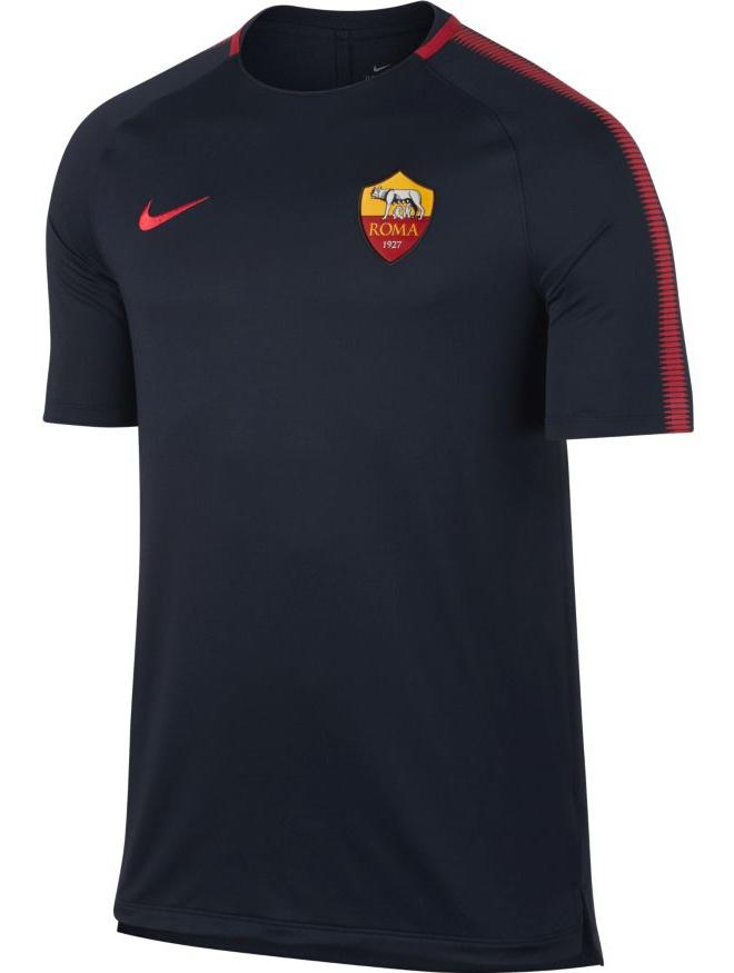 As-Roma-Nike-Maglia-Allenamento-Training-Shirt-Breathe-Squad-Top-2017-18
