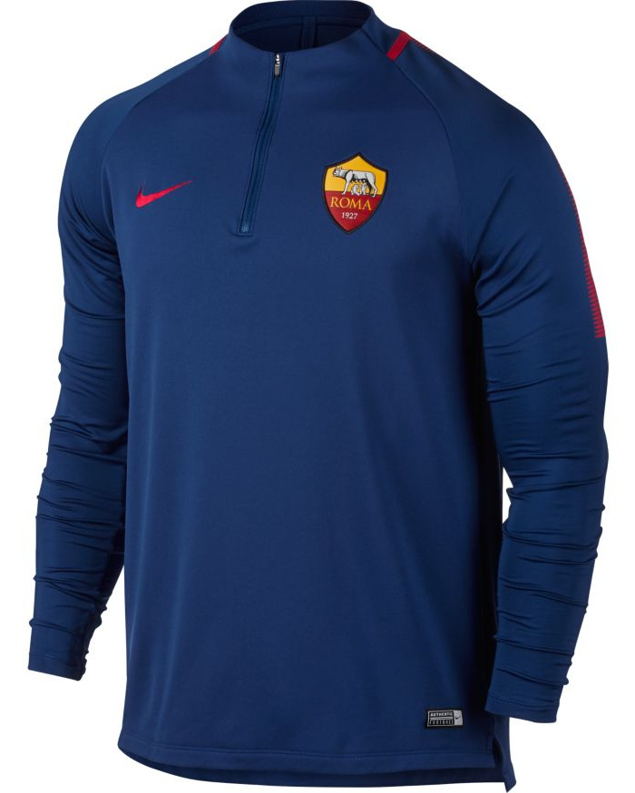 As-Roma-Nike-Drill-Top-Felpa-Allenamento-Training-Sweatshirt-Blu-2017-18