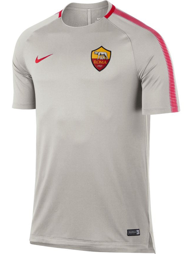 As-Roma-Nike-Maglia-Allenamento-Training-Shirt-Grigio-Breathe-Squad-Top-2018